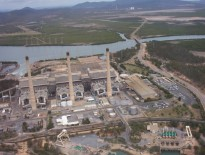 Gladstone Queensland Australia Power House from Helicopter