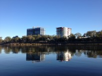 Rockhampton City High rises from Fitzroy River